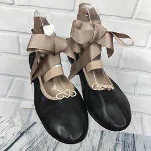 Topshop Le Petite Ankle Tie Ballet Flats